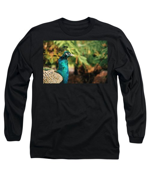 Beautiful Colourful Peacock Outdoors In The Daytime. Long Sleeve T-Shirt