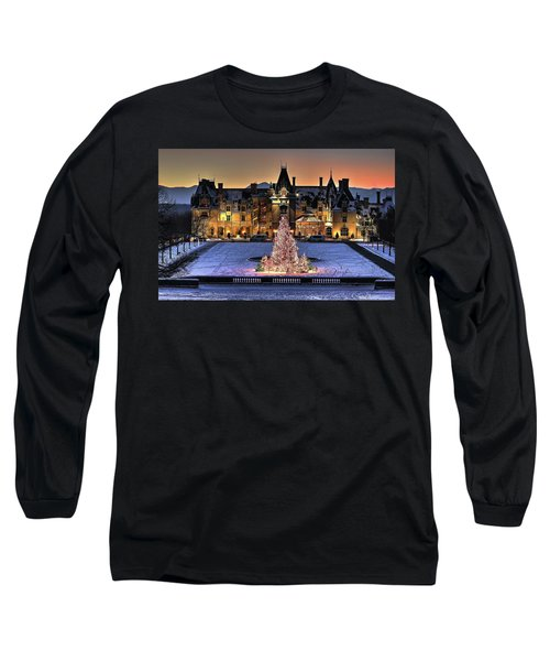 Biltmore Christmas Night All Covered In Snow Long Sleeve T-Shirt
