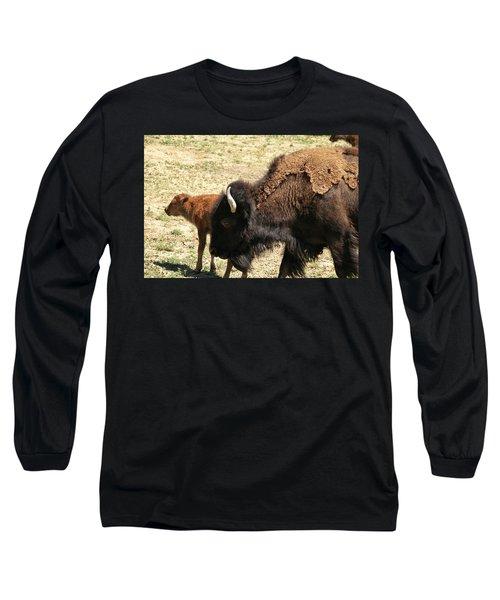 Bison In North Dakota Long Sleeve T-Shirt