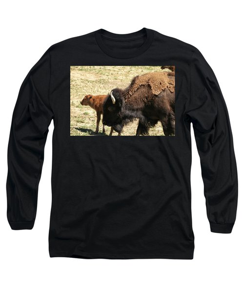 Bison In North Dakota Long Sleeve T-Shirt