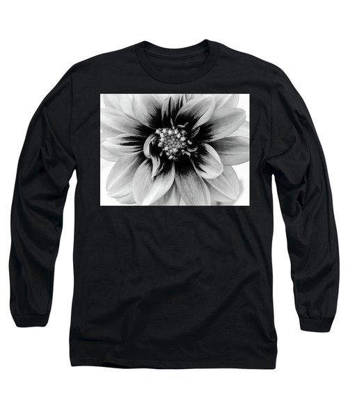Long Sleeve T-Shirt featuring the photograph Black And White Dahlia by Louis Dallara