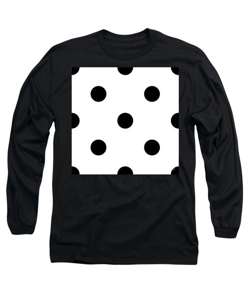 Black Dots On A White Background- Ddh610 Long Sleeve T-Shirt