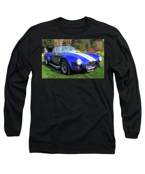 Blue 427 Shelby Cobra In The Garden Long Sleeve T-Shirt