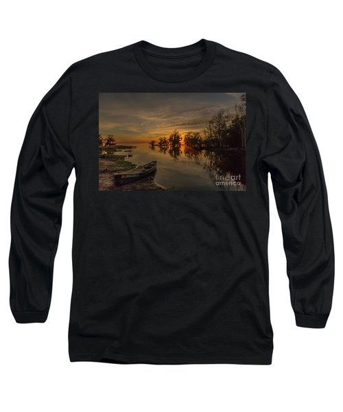 Blue Cypress Canoe Long Sleeve T-Shirt
