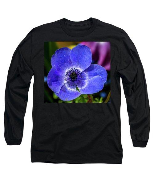 Blue Poppy Long Sleeve T-Shirt