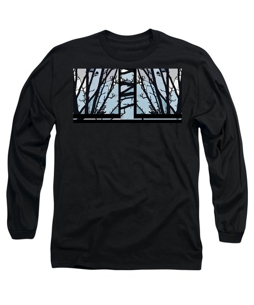 Blues - Barely Spring Abstract - Long Sleeve T-Shirt