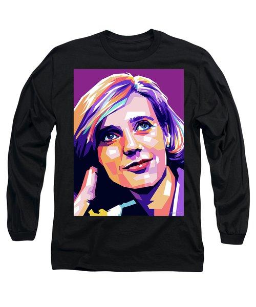 Blythe Danner Pop Art Long Sleeve T-Shirt