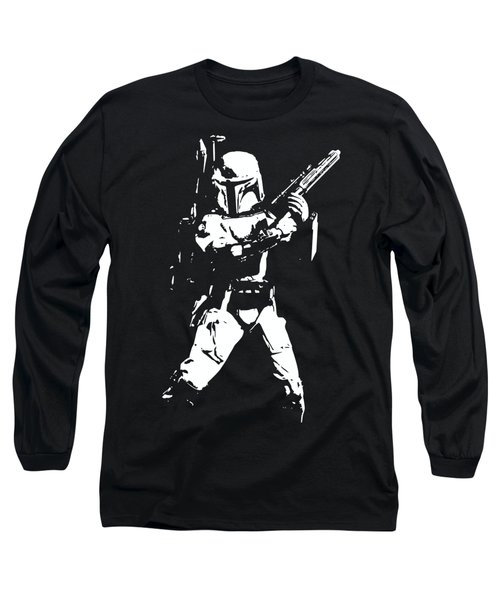Boba Fett Minimalistic Pop Art Long Sleeve T-Shirt