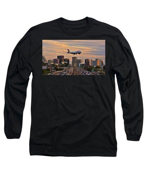 Boeing 747 Landing In San Diego Long Sleeve T-Shirt