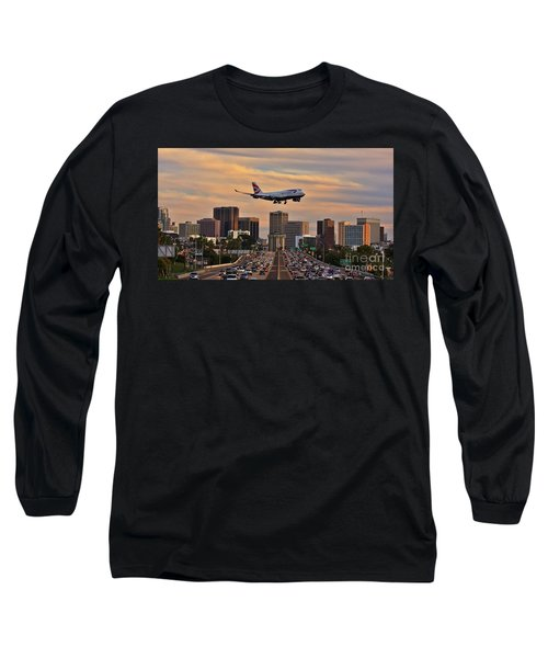 Boeing 747 Landing In San Diego Long Sleeve T-Shirt