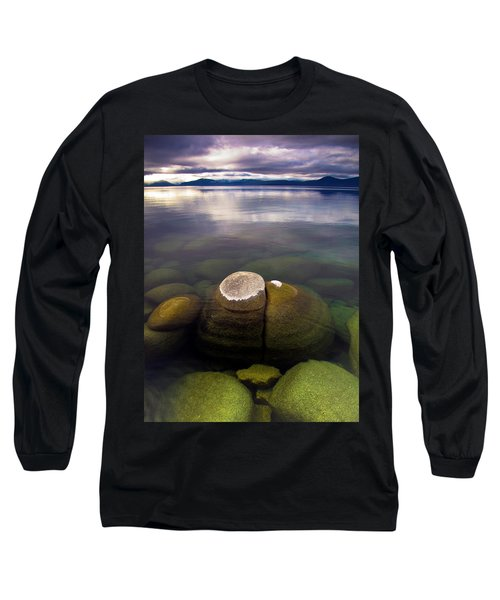 Boulders Underwater At Sand Harbor Long Sleeve T-Shirt