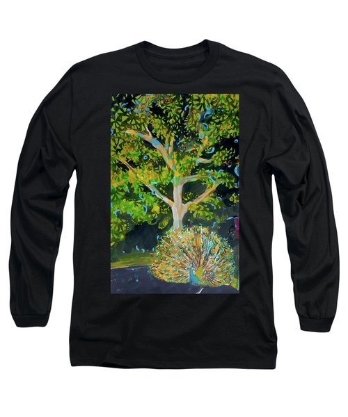 Branching Out Peacock Long Sleeve T-Shirt