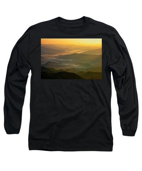 Long Sleeve T-Shirt featuring the photograph Brasstown Bald Mists by Andy Crawford