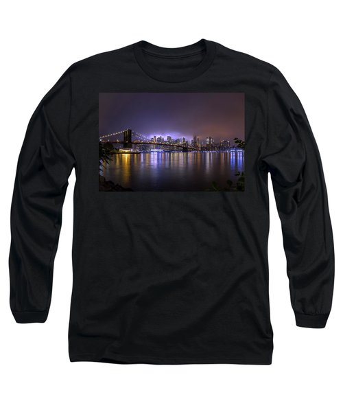 Bright Lights Of New York II Long Sleeve T-Shirt