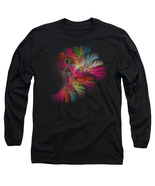 Brilliant Flare Coral Fractal Long Sleeve T-Shirt