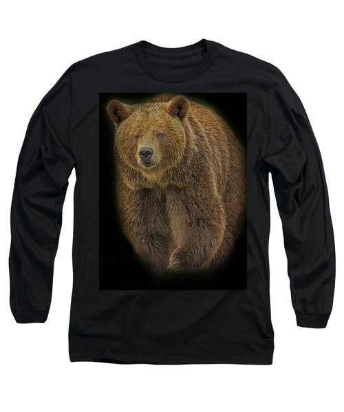 Brown Bear In Darkness Long Sleeve T-Shirt