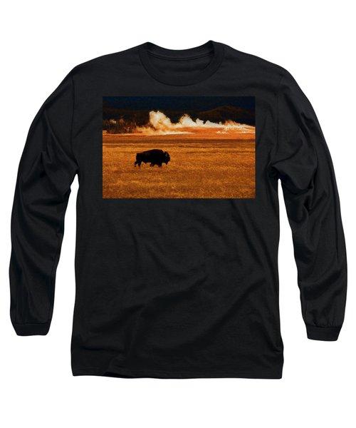 Buffalo Fire Sunset Long Sleeve T-Shirt