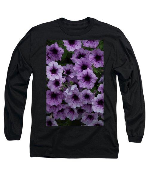 Cascade In Violet Long Sleeve T-Shirt