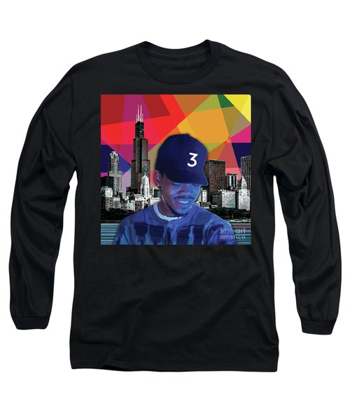 Long Sleeve T-Shirt featuring the painting Chance Chicago by Carla B