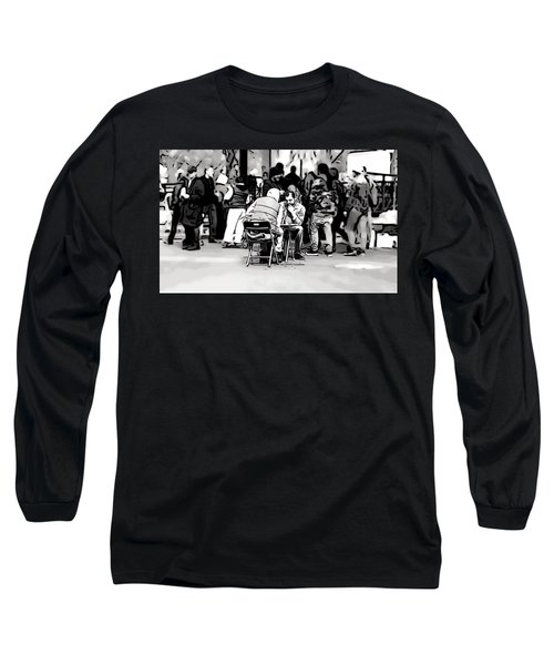 Chess Match Union Square  Long Sleeve T-Shirt