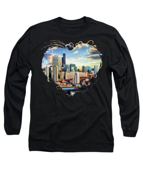 Chicago River North Long Sleeve T-Shirt