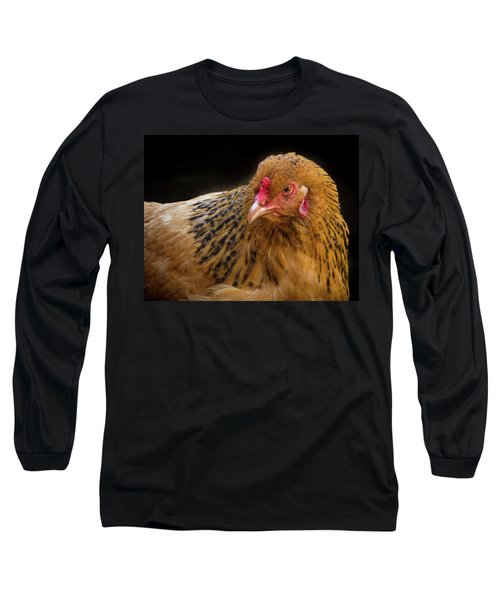 Chicken Portrait Long Sleeve T-Shirt
