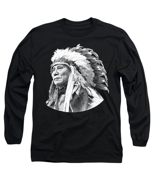 Chief Hollow Horn Bear Graphic Long Sleeve T-Shirt