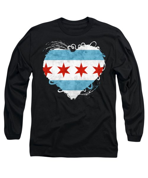 City Of Chicago Flag Long Sleeve T-Shirt