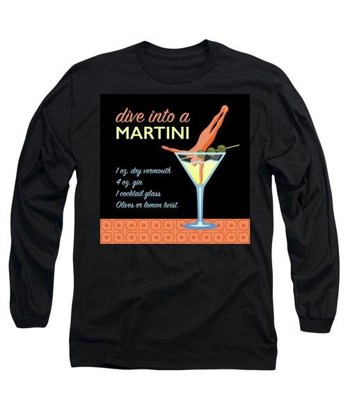 Classic Martini Long Sleeve T-Shirt