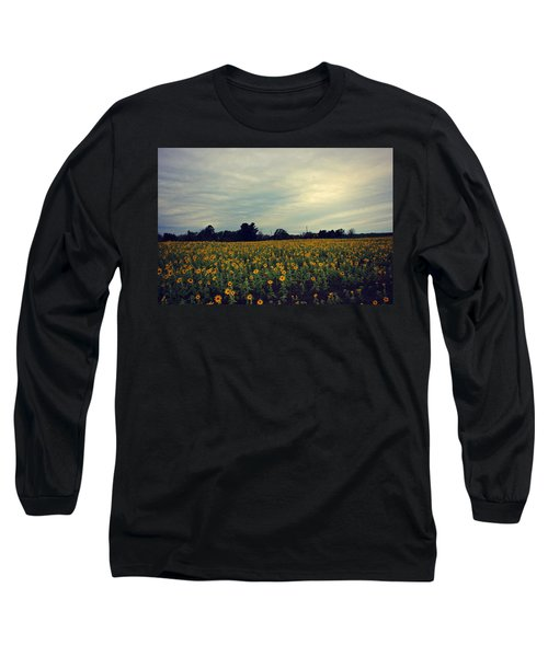 Cloudy Sunflowers Long Sleeve T-Shirt