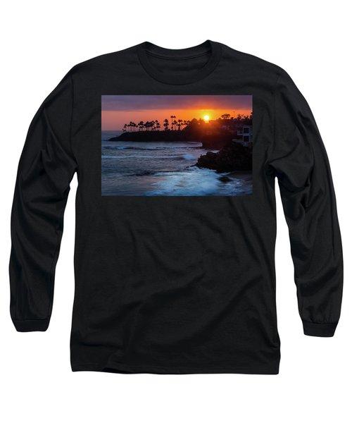 Colorful Laguna Beach Sunset Long Sleeve T-Shirt