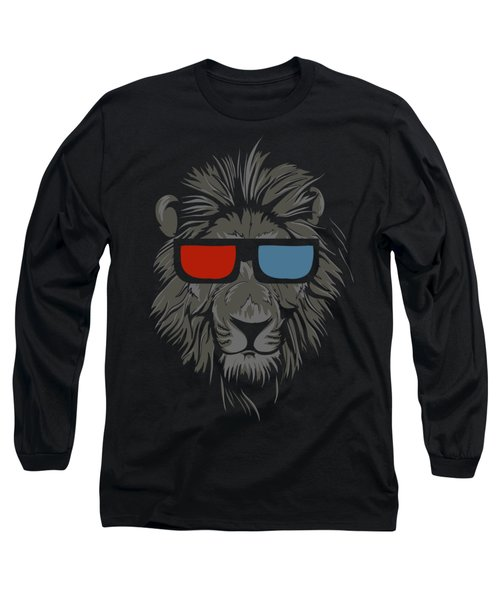 Cool Lion With Glasses Long Sleeve T-Shirt