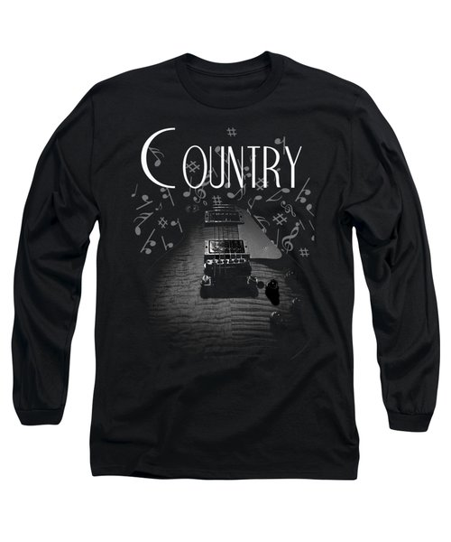 Country Music Guitar Music Long Sleeve T-Shirt