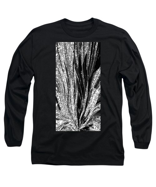 Crystal Floral Black Opposite Long Sleeve T-Shirt