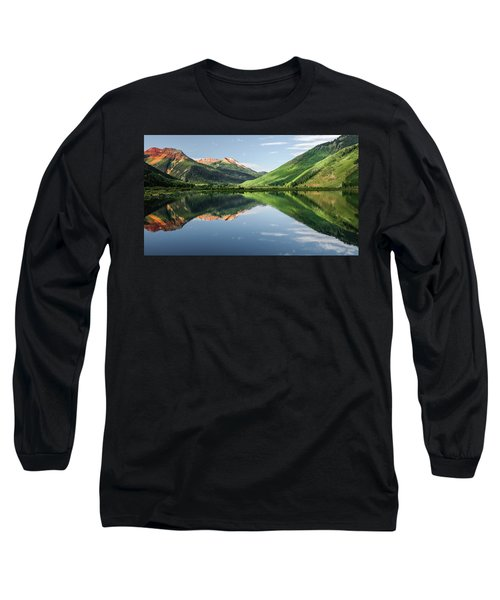 Crystal Lake Red Mountain Reflection Long Sleeve T-Shirt