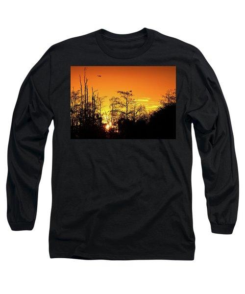 Cypress Swamp Sunset 3 Long Sleeve T-Shirt