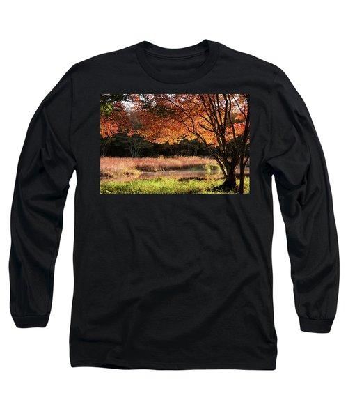 Dawn Lighting Rhode Island Fall Colors Long Sleeve T-Shirt