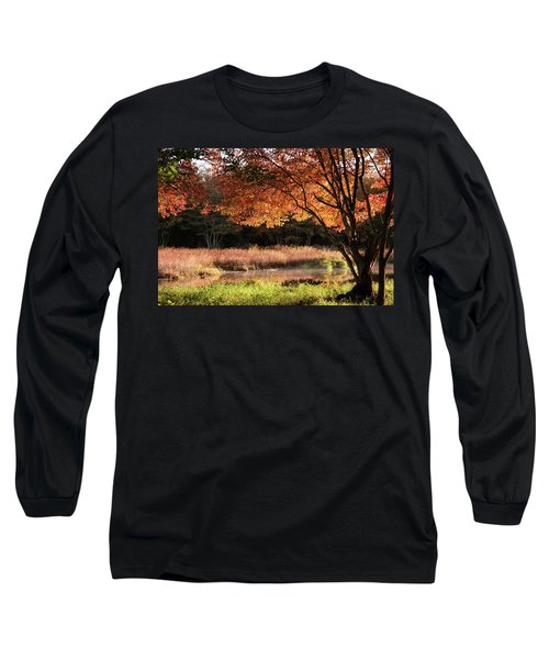 Dawn Lighting Rhode Island Fall Colors Long Sleeve T-Shirt