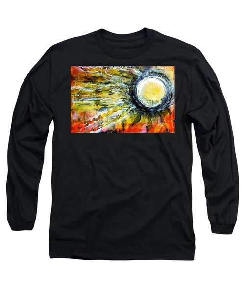 Long Sleeve T-Shirt featuring the painting Dawn Of A New Sun by 'REA' Gallery