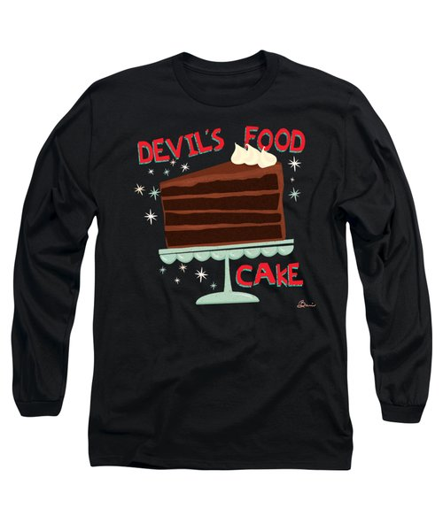 Devils Food Cake An All American Classic Dessert Long Sleeve T-Shirt