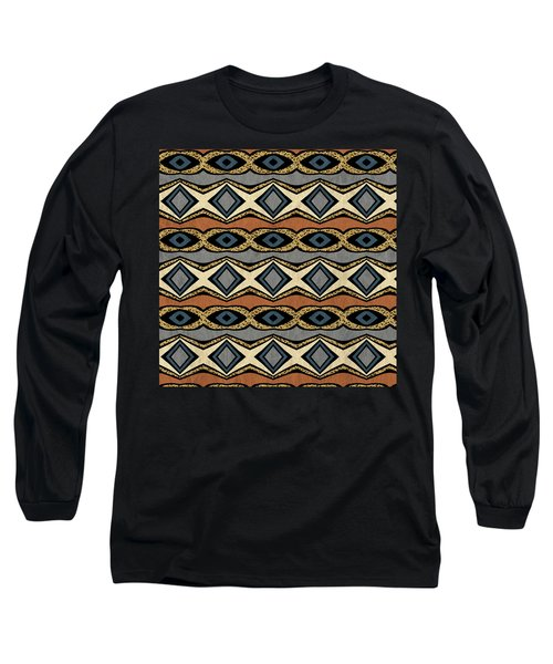 Diamond And Eye Motif With Leopard Accent Long Sleeve T-Shirt