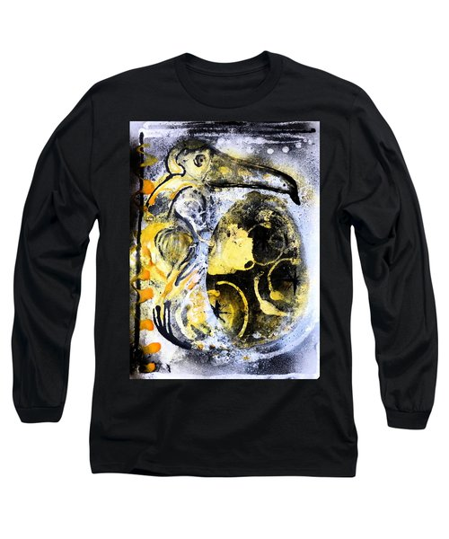Long Sleeve T-Shirt featuring the painting Dodo by 'REA' Gallery