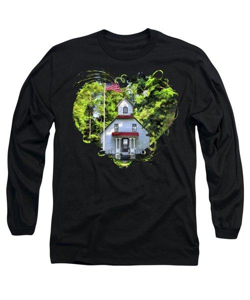 Door County Baileys Harbor Upper Range Lighthouse Long Sleeve T-Shirt