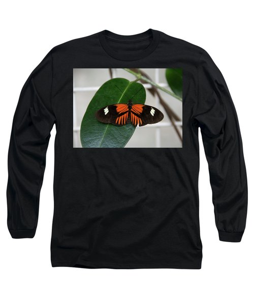 Doris Longwing On Leaf Long Sleeve T-Shirt