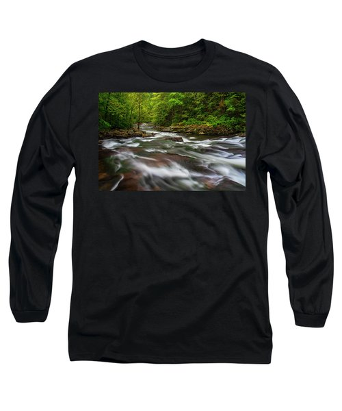 Long Sleeve T-Shirt featuring the photograph Down The Tellico River by Andy Crawford