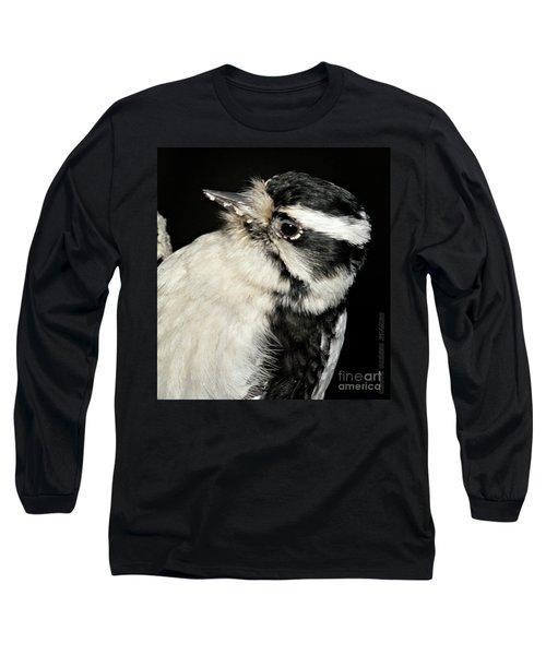 Downy Woodpecker Female Long Sleeve T-Shirt