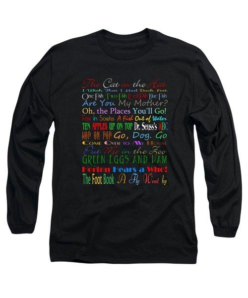 Dr Seuss Books 1 Long Sleeve T-Shirt