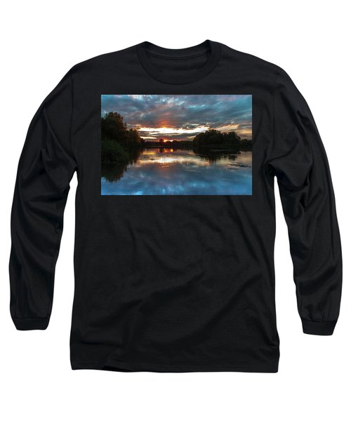 Long Sleeve T-Shirt featuring the photograph Dusk Aquarelle by Davor Zerjav