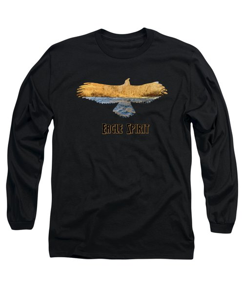 Eagle Spirt Text Long Sleeve T-Shirt