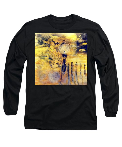 Long Sleeve T-Shirt featuring the painting Elaine by 'REA' Gallery